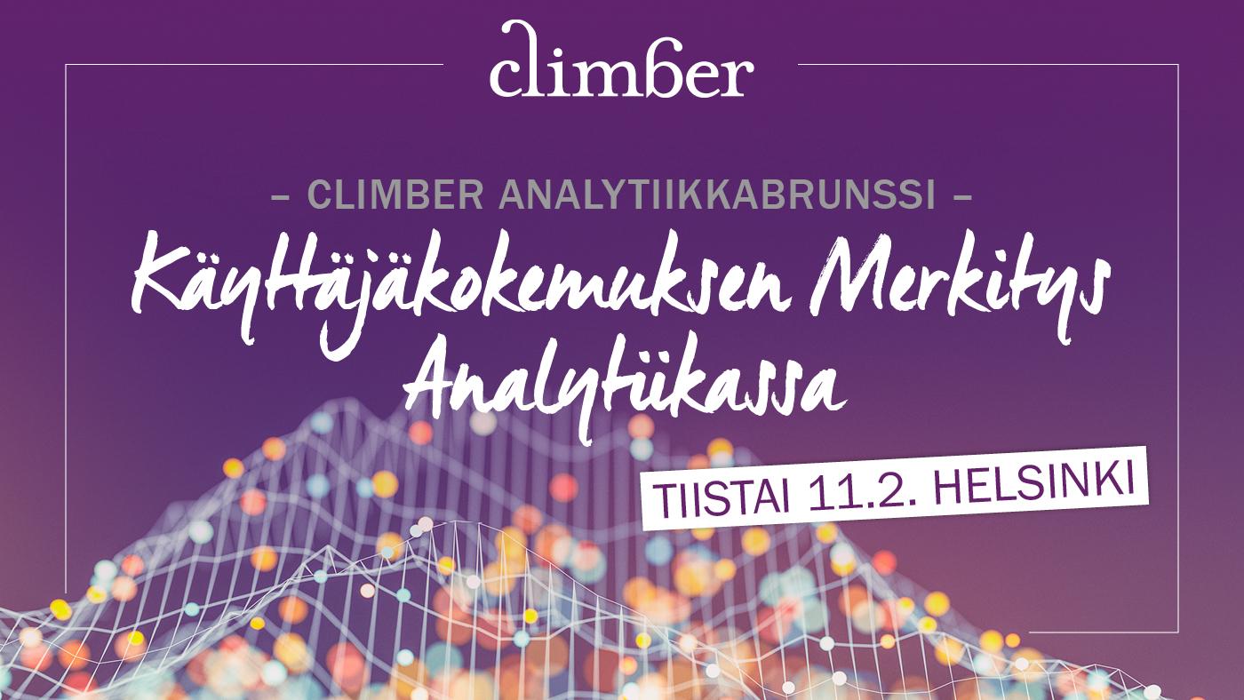 Climber analytiikkabrunssi