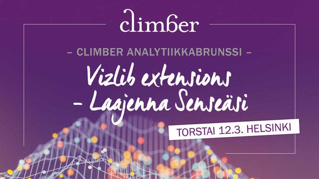 Climber analytiikkabrunssi – Vizlib extensions – Laajenna Senseäsi