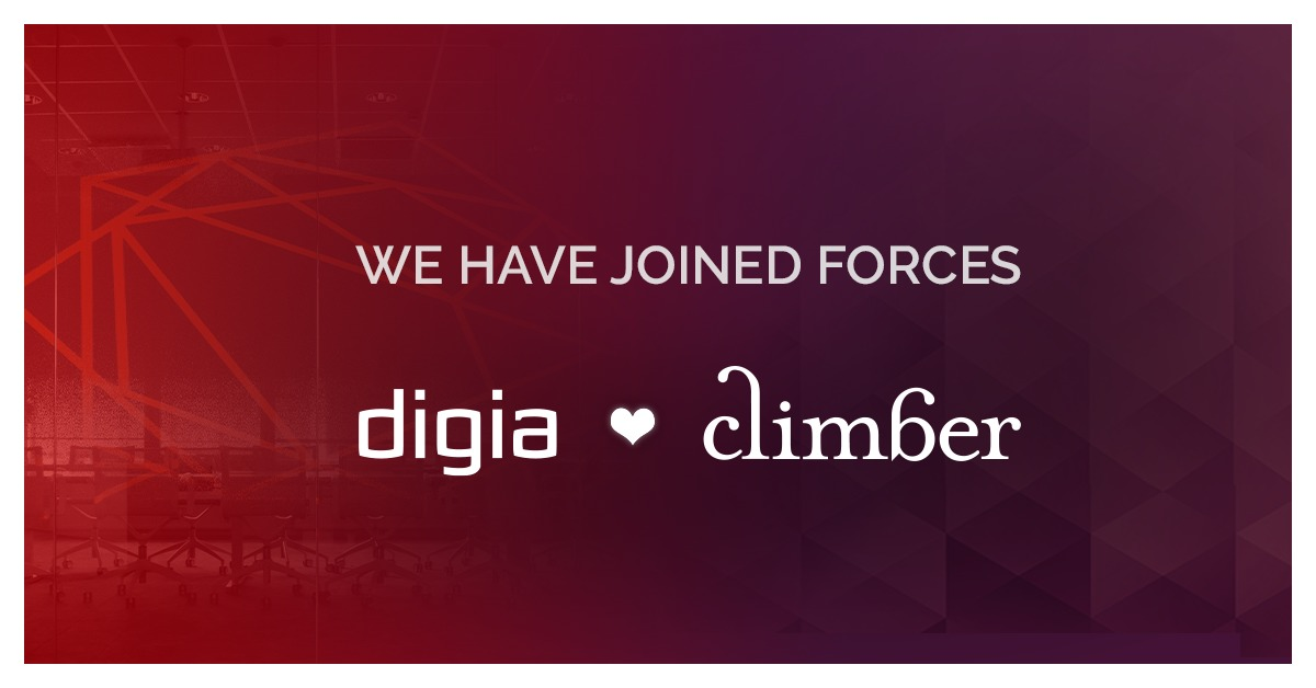 Climber merges with Digia Plc